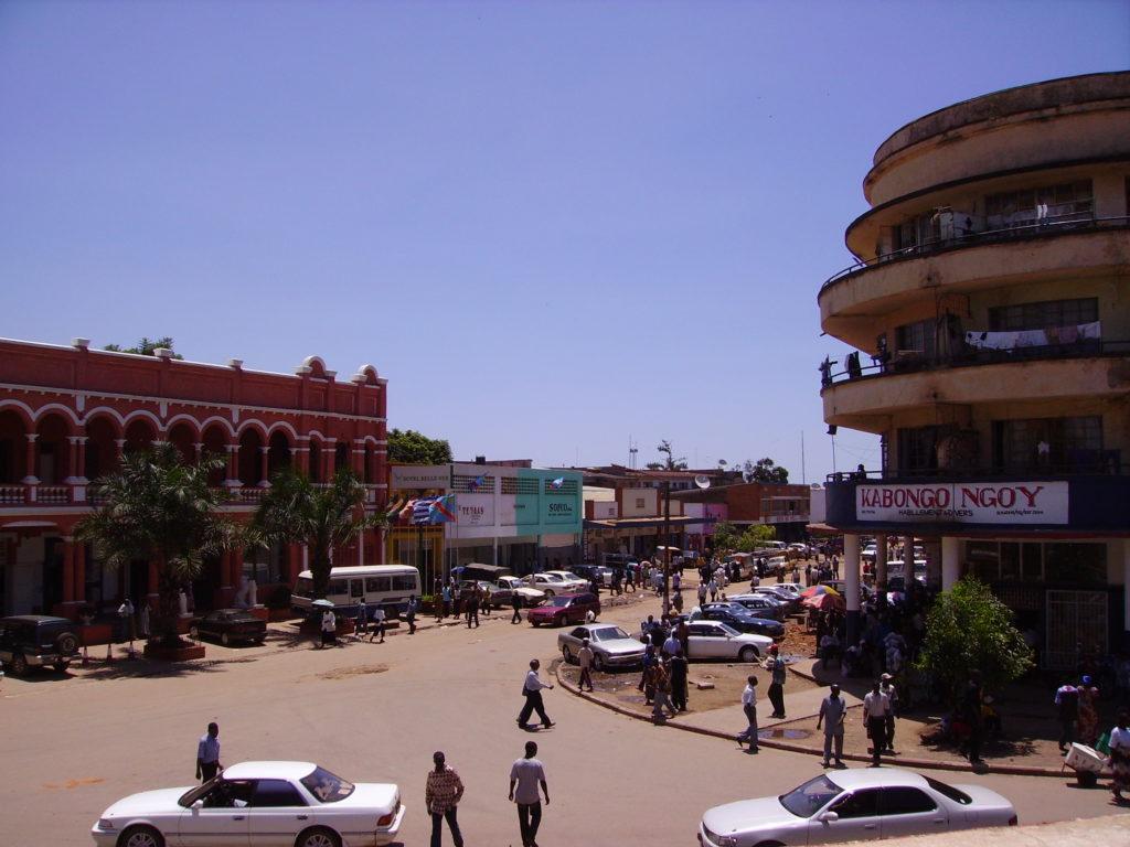 Image of downtown Lubumbashi in Congo