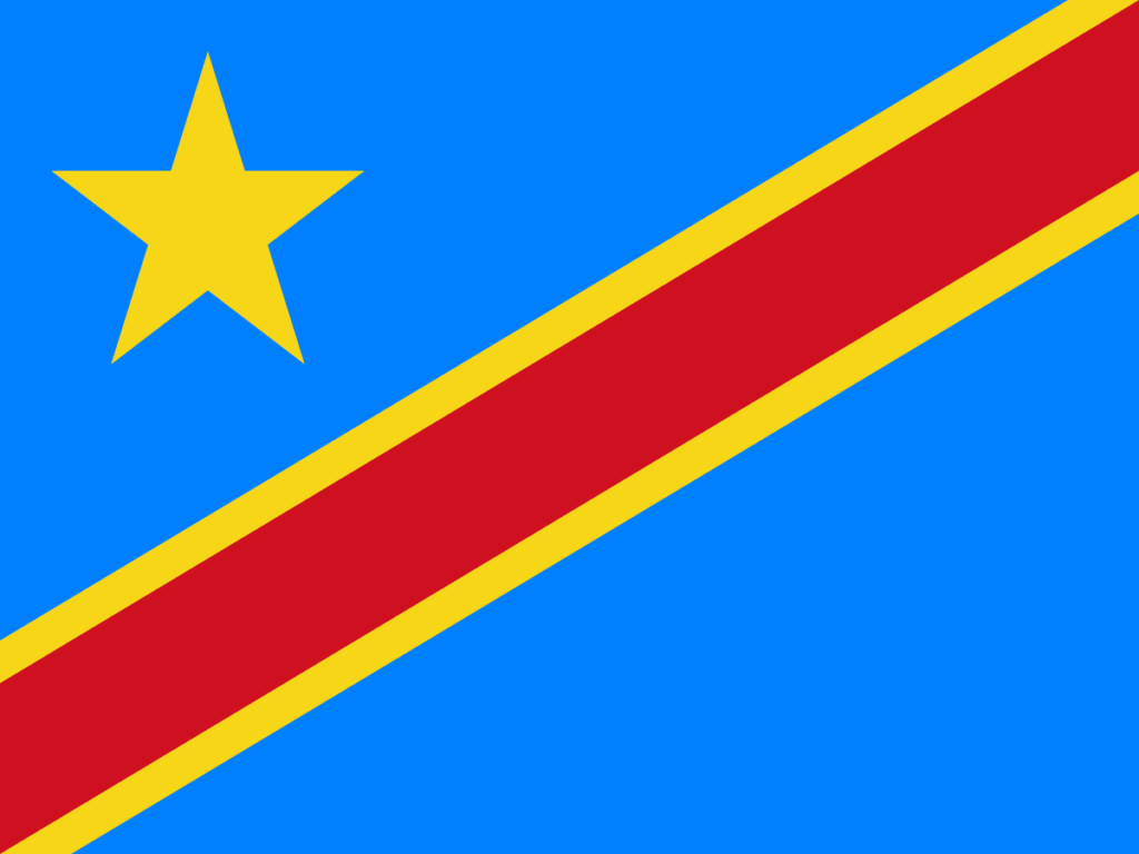 The flag of the DRC